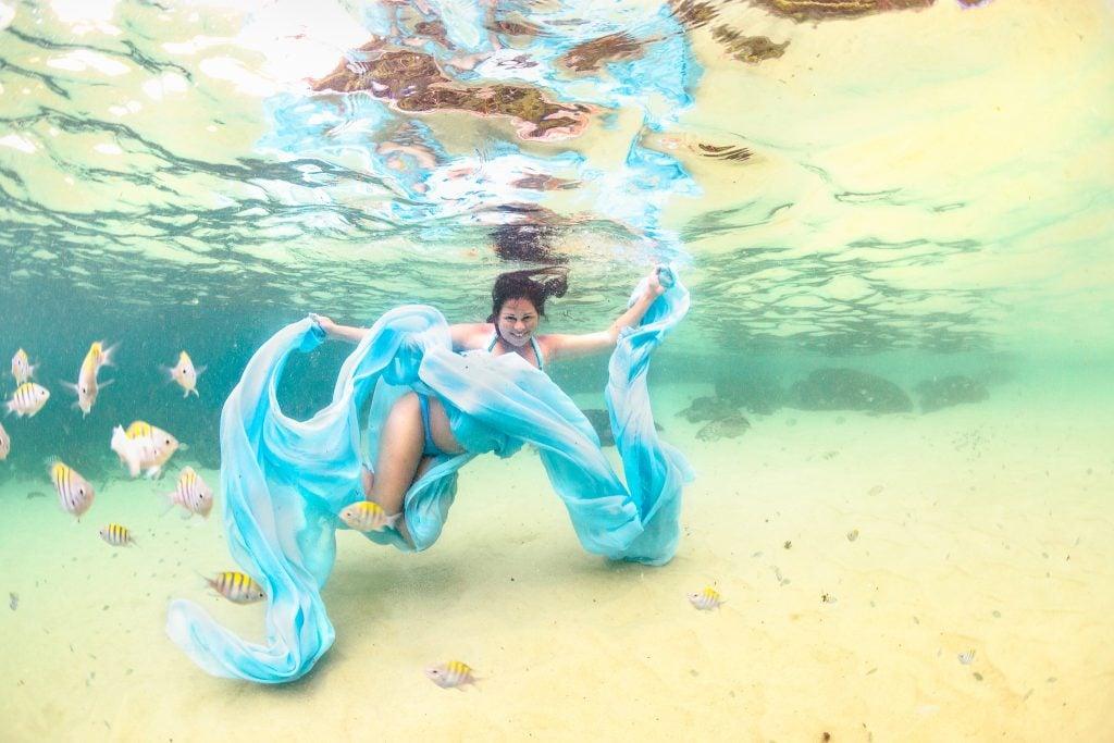 embarazo bajo el agua