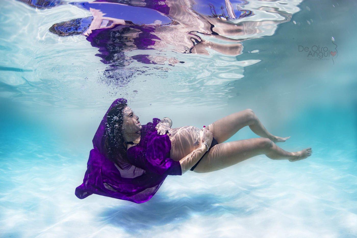 fotos de embarazo bajo el agua