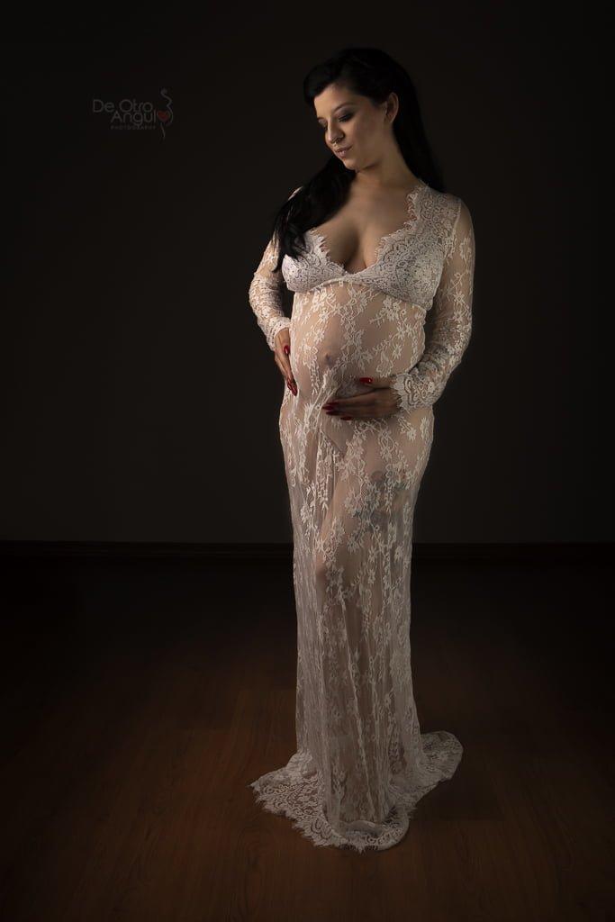 Vestuario Fotos de Embarazo: Vestido Encaje Cerrado
